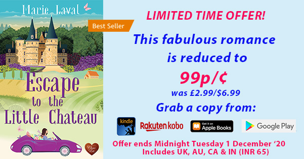 Escape to the Little Chateau by Marie Laval - Limited Time Deal